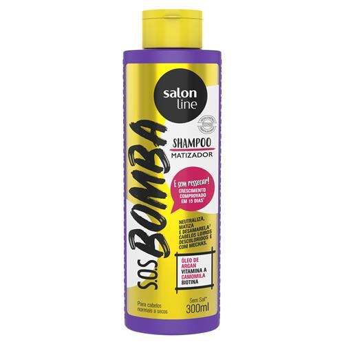Shampoo S.O.S Bomba Matizador Cabelos Normais a Secos 300ml -